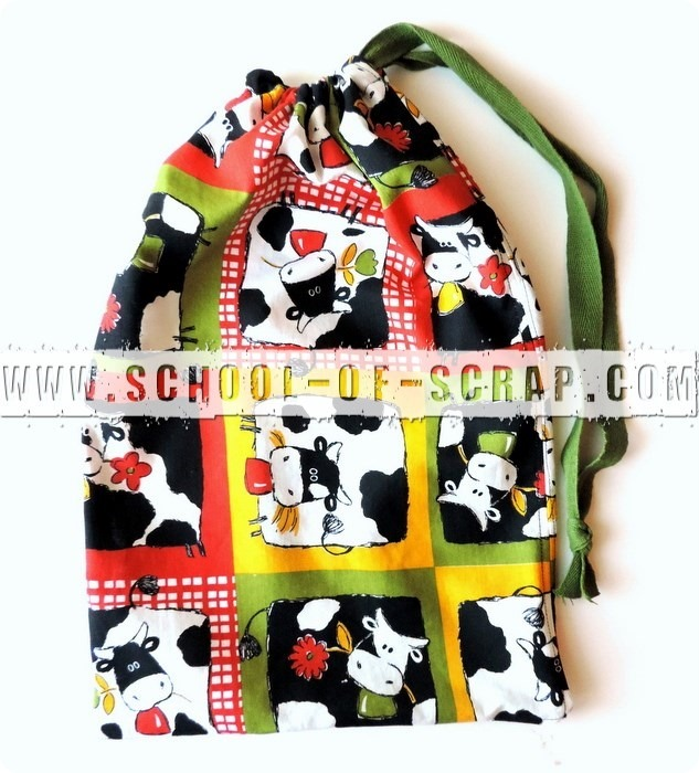 Scuola di cucito: sacca di stoffa per la scuola materna fatta in 5 minuti