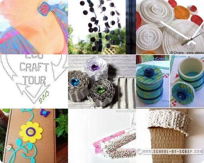 ECO CRAFT TOUR agosto 2013: idee per riciclare il cartone