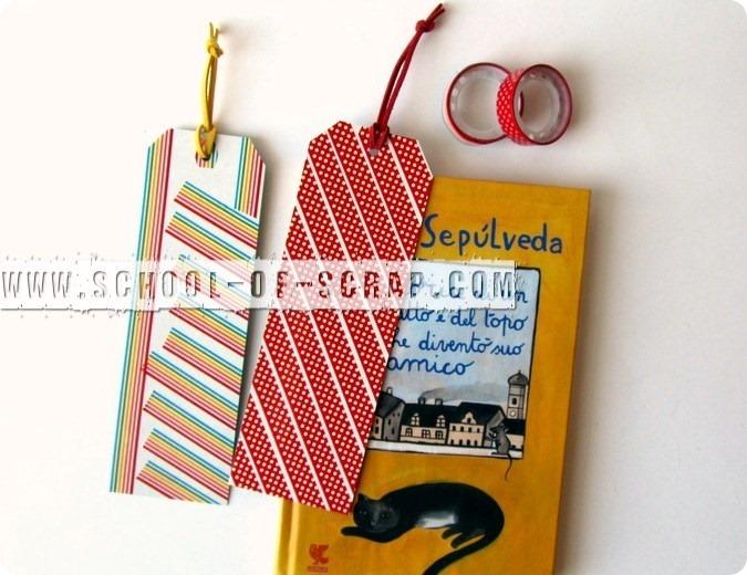 Washi Tape Bookmark: segnalibri con i nastri colorati