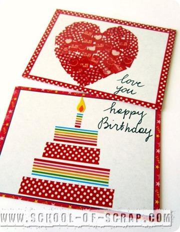 Washi Tape Postcards: cartoline con i nastri decorati
