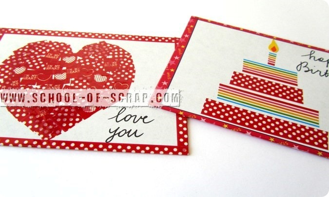 Washi Tape Postcards: cartoline con i nastri decorati