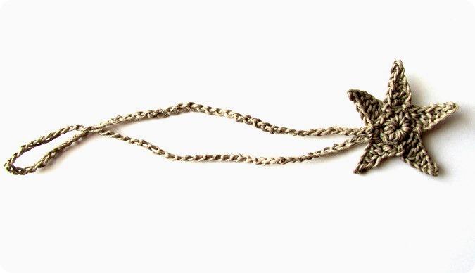 Uncinetto: braccialetto dell'amicizia con stella marina