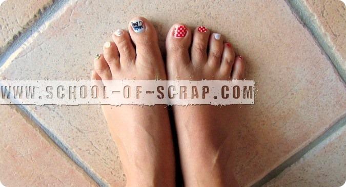 Cosa si può fare con i washi tape? Lo smalto ai piedi