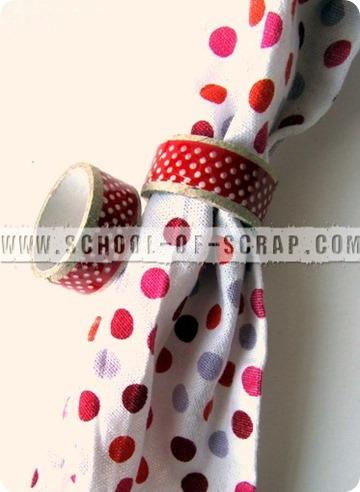 Idee con i washi tape: portatovaglioli di riciclo