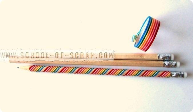 Idee con i Washi Tape: matite decorate per il ritorno a scuola
