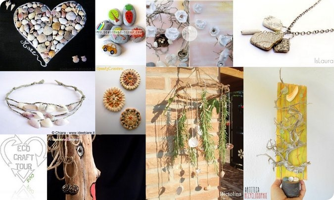 ECO CRAFT TOUR Settembre 2013: idee per riciclare i materiali naturali