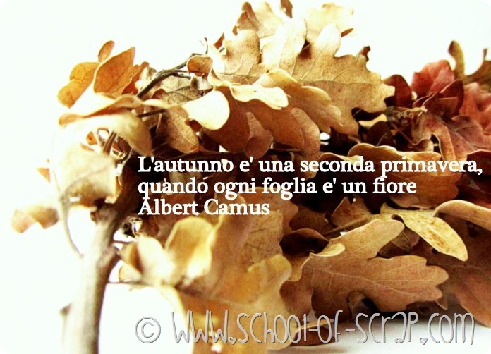 [QUOTE] L'autunno è una seconda primavera