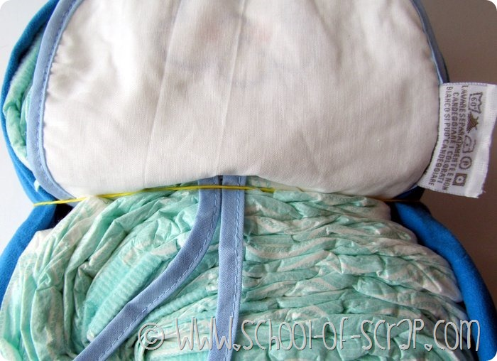Tutorial per fare la torta gufo di pannolini: owl diaper cake