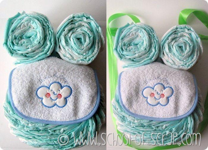 Tutorial per fare la torta gufo di pannolini  owl diaper cake ... 5247c929d25d