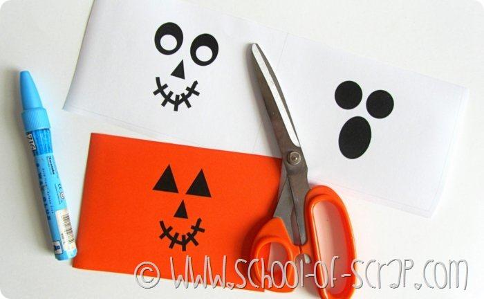 Halloween porta caramelle da stampare e costruire