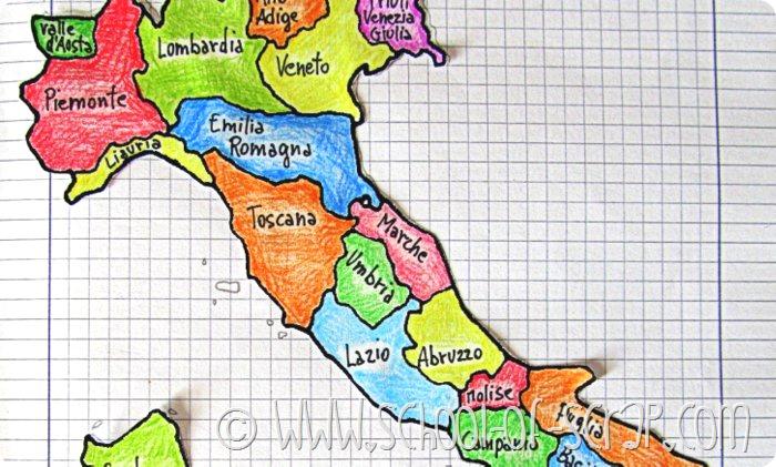 Cartina Politica Regioni Italia.Scuola Primaria Impariamo Le Regioni D Italia Alessia Scrap Craft