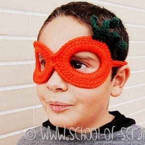Scuola di uncinetto: mascherina da zucca per Halloween