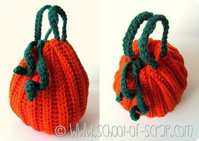 Scuola di uncinetto: come fare la borsetta a forma di zucca per Halloween