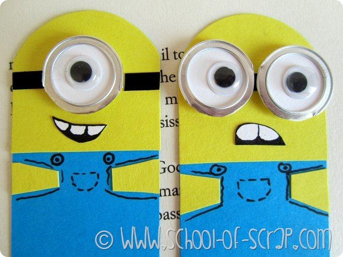 Amato Regali fai da te: segnalibri dei Minions con occhialoni in rilievo  OQ85
