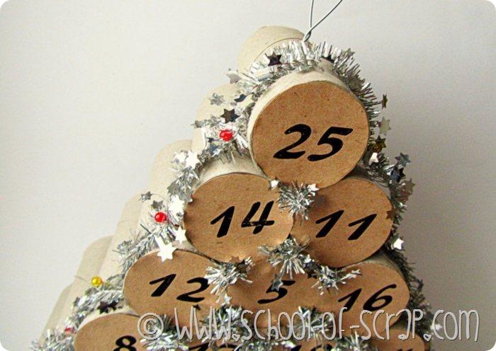 Lavoretti di Natale: fare il calendario dell'avvento con i tubi di ...
