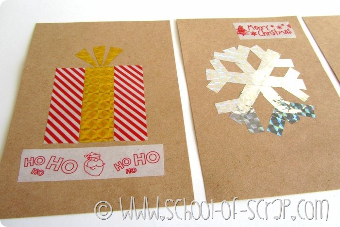Biglietti e cartoline di Natale fatti in 5 minuti con i Washi Tape