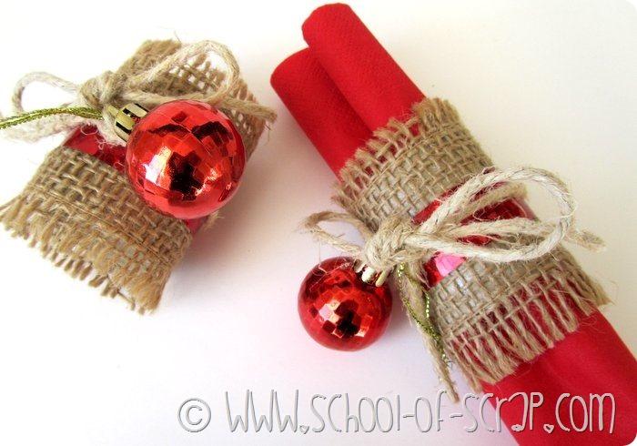 Decorazioni di Natale: portatovaglioli fatti in #5minuti per pranzo o cenone