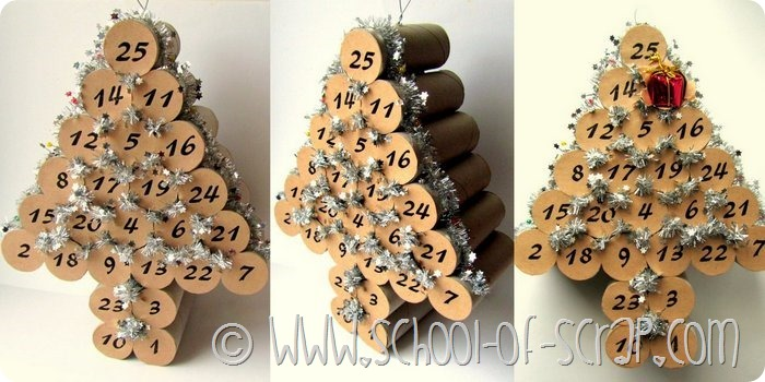 Populaire Lavoretti di Natale: fare il calendario dell'avvento con i tubi di  CX36