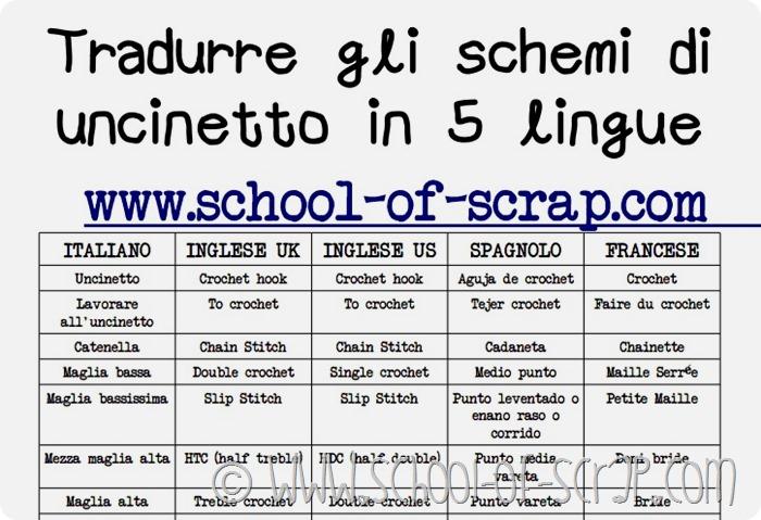 CLICCA E SCARICA lo schema per tradurre l'uncinetto in 5 lingue