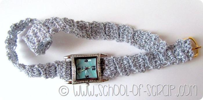 Scuola di uncinetto: orologio bijoux per Natale o Capodanno