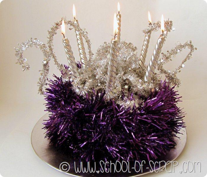 Decorazioni di San Silvestro: torta centrotavola aspettando il 2014