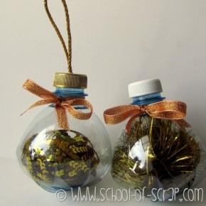Bottiglie di plastica diventano Palline per l'albero di Natale #EcoCRaftTour