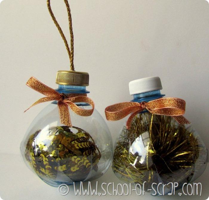 Lavoretti Di Natale Per Bambini Con Bottiglie Di Plastica.Bottiglie Di Plastica Diventano Palline Per L Albero Di