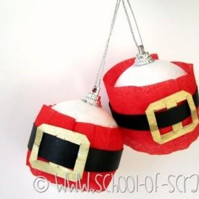Decorazioni natalizie: le palline con la pancia di Babbo Natale