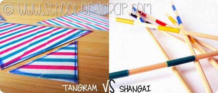 Giochi fai da te per bambini: Tangram e Shangai