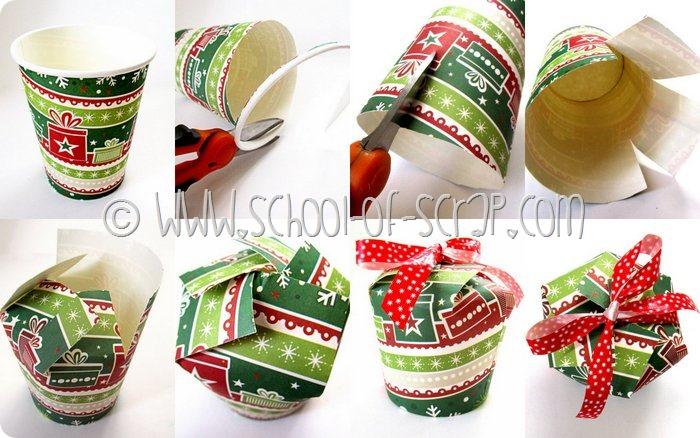 Estremamente Natale fai da te: come fare una confezione regalo con un bicchiere  NM22