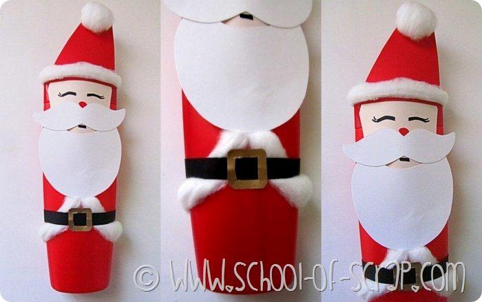Babbo Natale Lavoretti.Lavoretti Babbo Natale Fatto Con Il Flacone Dello Shampoo Alessia