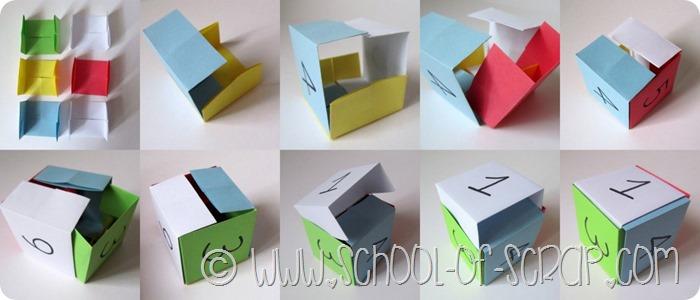 Giocare con i bambini: come costruire i dadi con l'origami