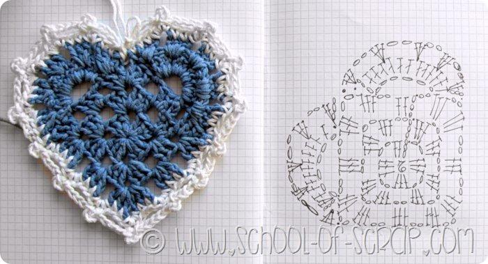 Scuola di Uncinetto: la piastrella granny a cuore