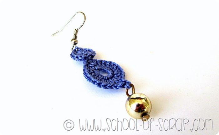 Filati di cotone da provare e orecchini a crochet