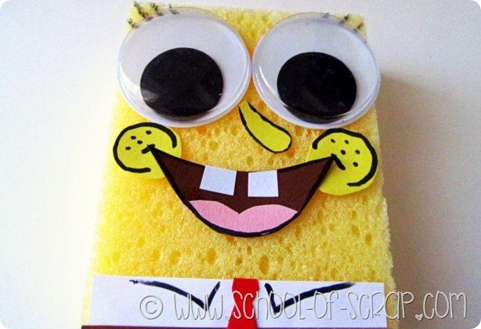 Lavoretti: Spongebob fatto in casa con una spugna