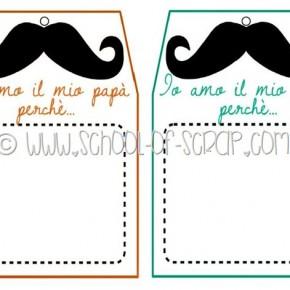 Regali festa del papà last minute: tag FREE PRINTABLES da scaricare e stampare