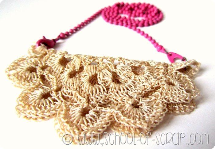 Bijoux fai da te in 5 minuti: collana doily necklace con i centrini
