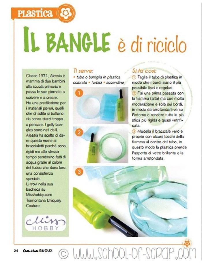 Tutorial braccialetti Gelly Bangles: riciclo la plastica