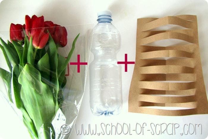 Idee da 5 minuti facciamo un vaso design con carta e for Vasi con bottiglie di plastica