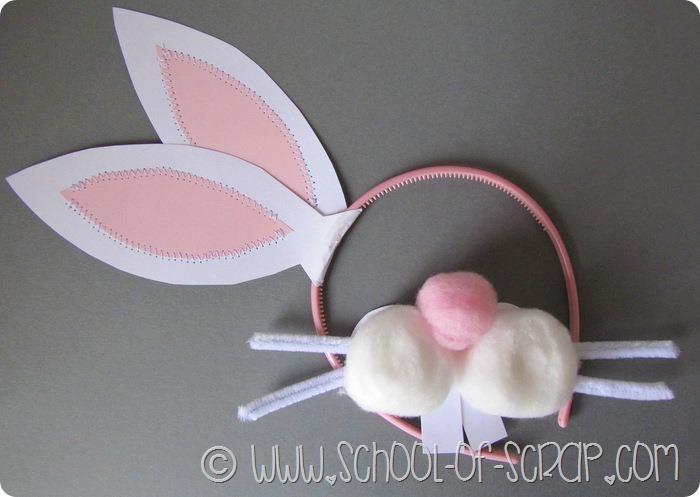 Lavoretti di Pasqua per bambini: il musetto da coniglio di batuffoli di cotone