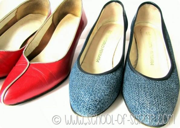 Rinnovare le scarpe con rondelle da ferramenta #questavoltaciriesco