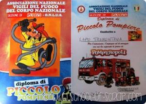 Siamo stati a Pompieropoli: percorso per bambini con diploma di piccolo pompiere