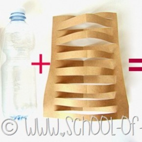 Idee da 5 minuti: facciamo un vaso design con carta e bottiglia di plastica