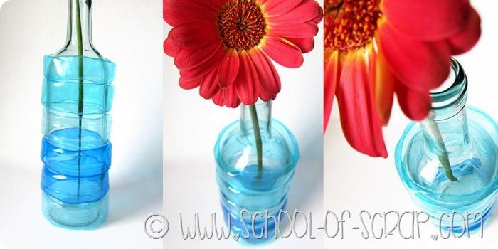 Vaso faidate da #5minuti: riciclo bottiglie di vetro e bottiglie di plastica