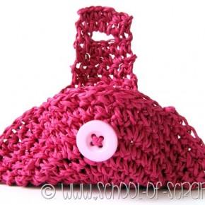 Scuola di Uncinetto: basta un cerchio a crochet per fare un borsellino