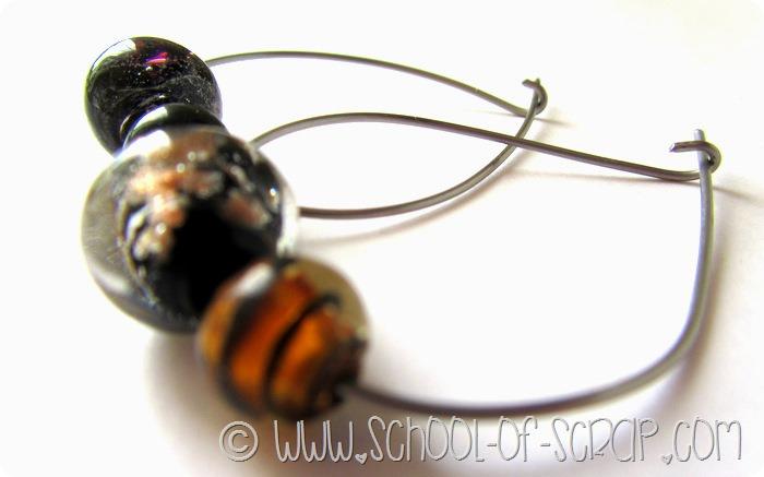 Bijoux fai da te: orecchini con monachella grande e perle di vetro