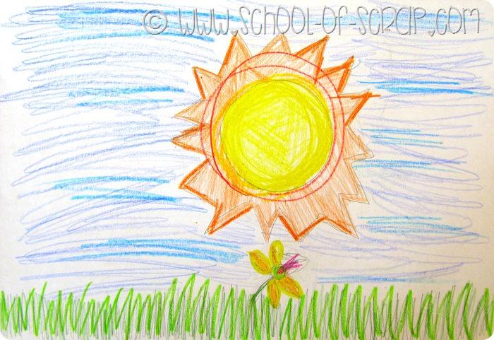 Fiabe fatte a mano: il sole e il fiorellino