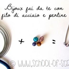 Bijoux fai da te: come fare un ciondolo fatto con filo di acciaio e perline