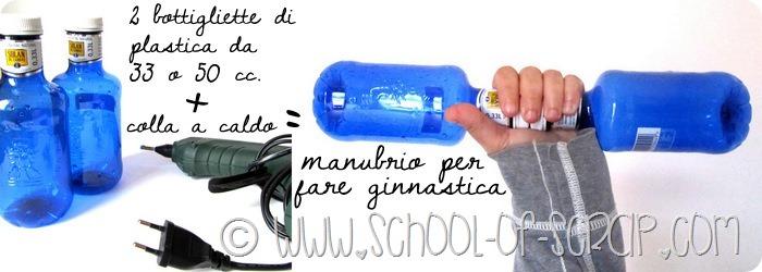 Riciclare le bottiglie di plastica: facciamo i Manubri per la ginnastica