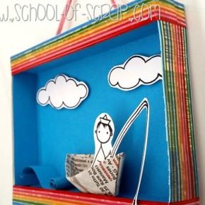 Come riciclare una scatoletta di cartone: come fare un diorama